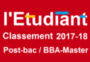 Classement 2017-2018 des écoles post-bac par l'Etudiant