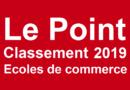 Classement écoles de commerce Le Point 2019