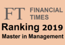 Classement Master in Management Financial Times 2019