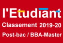 Classement 2019-2020 des écoles de commerce post-bac par l'Etudiant