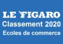Classement écoles de commerce 2020 selon Le Figaro