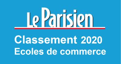 Classement écoles de commerce Le Parisien 2020