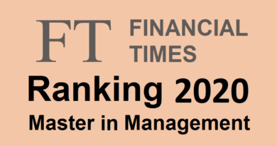 Classement Master in Management Financial Times 2020